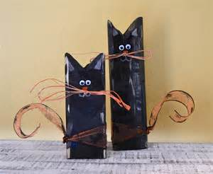 Etsy Halloween Decorations Primitive Halloween Black Cats Wooden Shelf Sitter By