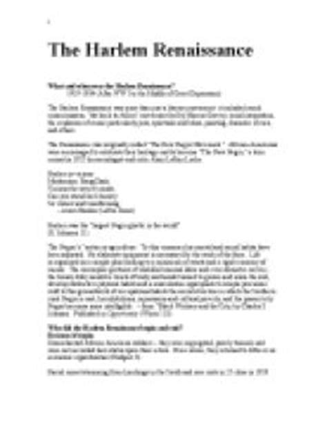 The Renaissance Essay by Harlem Renaissance Essay Harlem Renaissance Essay Ayucar