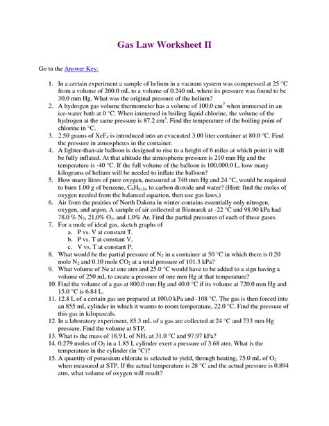 The Combined Gas Worksheet Answers by 16 Best Images Of Gas Calculations Worksheets Answers