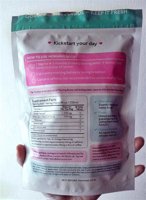 Tiny Tummy Tea Detox Reviews by Wickermoss Skinnymint 28 Day Teatox Experience Of