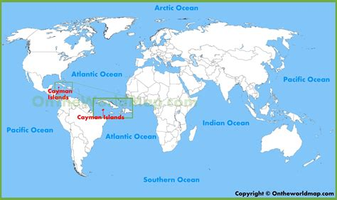 where are the cayman islands on a world map cayman islands location map