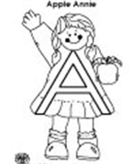 annie apple coloring page a meet the letter abc twiggles