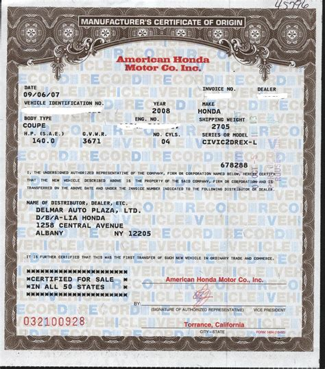 the manufacturers certificate of origin argument usahm