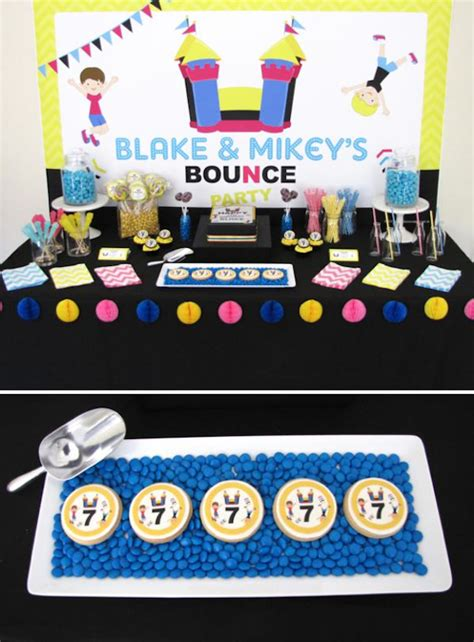 themed party house bounce house themed birthday party unique party planning idea