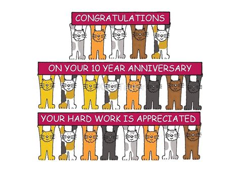 10 Year Work Anniversary by Quot 10 Year Work Anniversary Congratulations Quot By Katetaylor