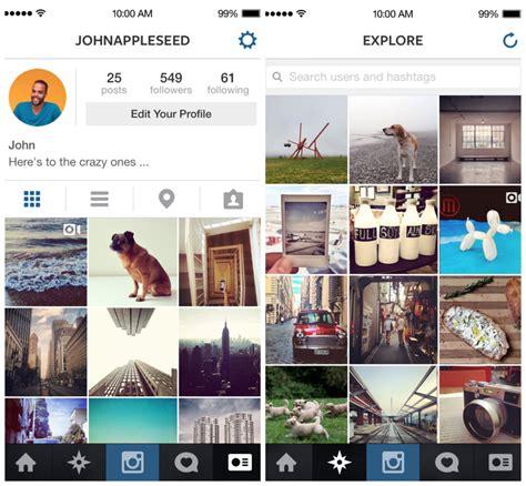 layout instagram ios instagram launches ios 7 app