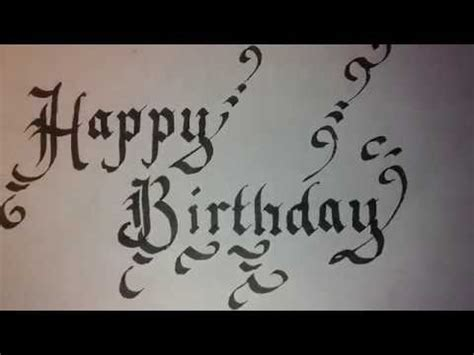 write happy birthday in design calligraphy for beginners happy birthday