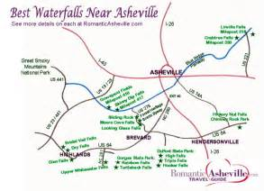 new waterfall drives maps for asheville nc mountains