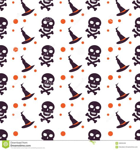 seamless pattern collection happy halloween background seamless pattern stock vector