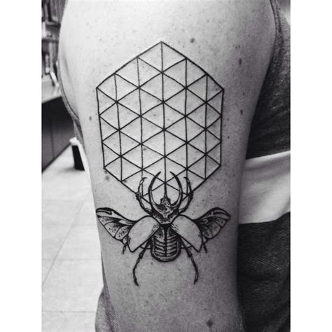 geometric insect tattoo geometric bug insect tattoo voodoo pinterest