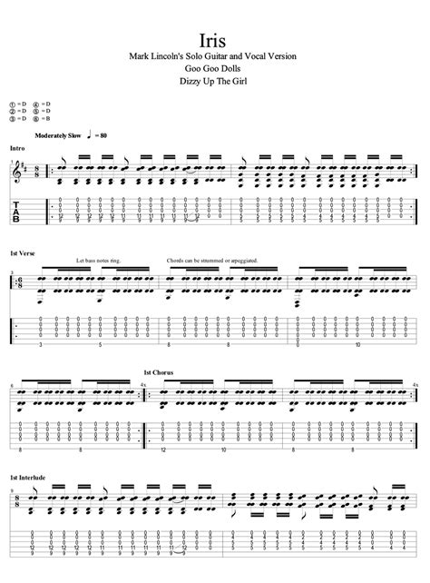 Iris Guitar Chords And