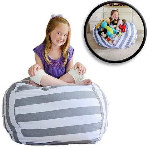 stuffed animal bean bag storage pattern boon animal bag stuffed animal storage gray baby