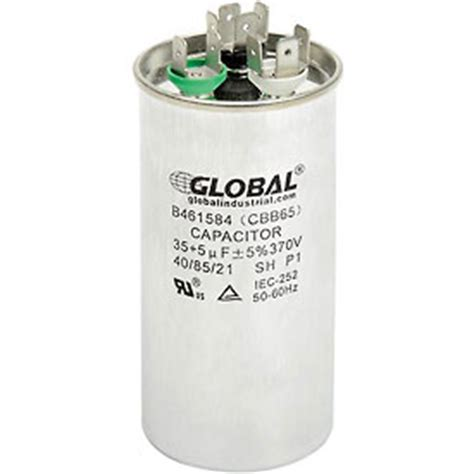 run capacitor what is it capacitors capacitors dual run capacitor 35 5mfd 370v b461584 globalindustrial