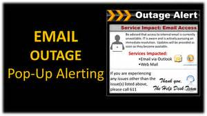 outage notification template xcommsdirect desktop alert software for