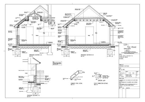 pitched roof section roof lantern drawings