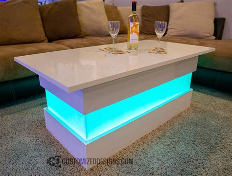 mirage led lighted coffee table perfect  lounges