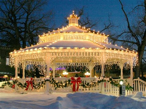 small town christmas christmas decorations pinterest gazebo lights for christmas pictures photos and images