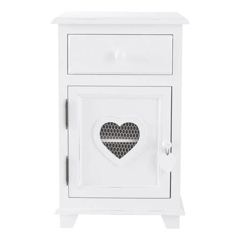 lade da comodino moderne wooden bedside table with drawer in white w 40cm