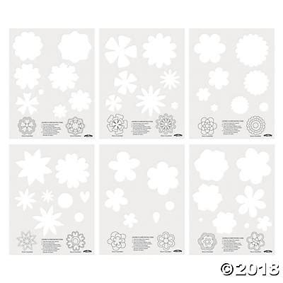 Layered Flower Card Template by Layered Flower Templates