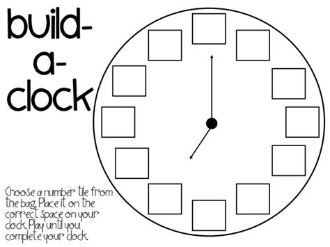 free printable clock labels build a clock printable zeit uhr pinterest clock