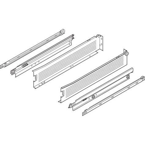 Blum Metabox Drawer System by Blum 330m450pc15 18in Metabox 330m Slide 4in Side Height Ext