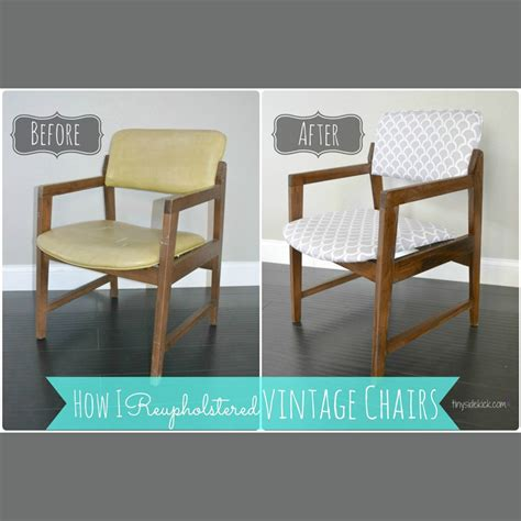 Reupholster Dining Chair Diy Reupholstering Vintage Dining Chairs Tiny Sidekick
