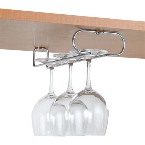 under cabinet wine glass rack chrome wine glass holders the container store