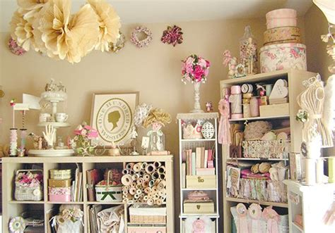 shabby chic craft room scrapbooking crafting pinterest
