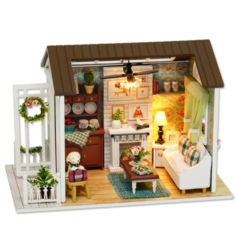 miniature dolls house furniture doll house furniture diy miniature 3d wooden miniaturas dollhouse toys for children