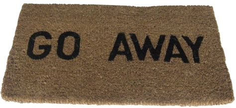 Welcome Mat That Says Go Away by Bryan Cranston 183 New Mexico Entertainment