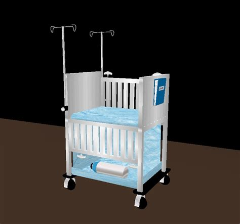 blue pediatrics crib