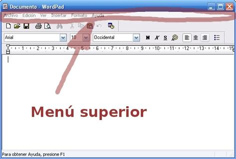 barra de menu superior html 2 5 tutorial de wordpad