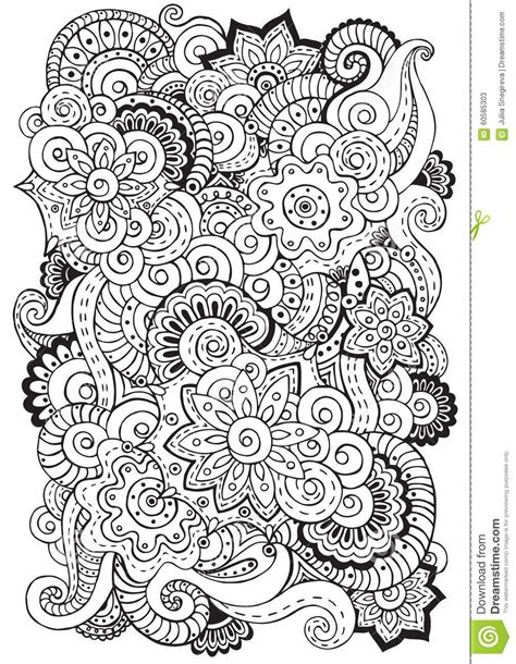 paisley doodle vector free doodle background in vector with flowers paisley black