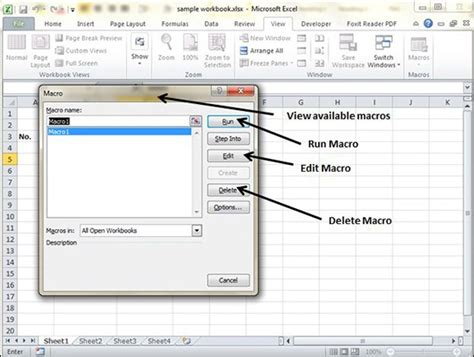 excel tutorial point pdf how to create a macro in excel 2010 using vba vba delete