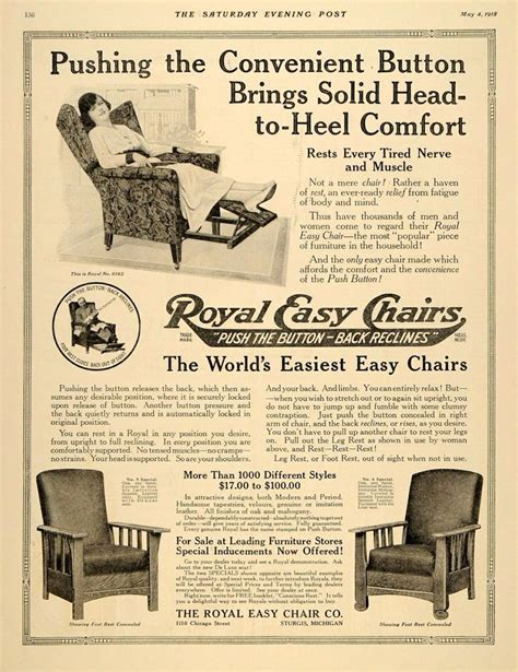 royal easy chair recliner add for royal easy chair 1920 s royal easy chair