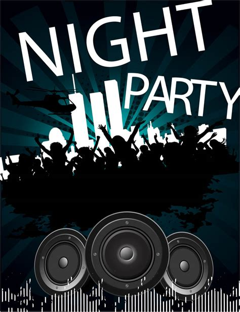 party poster template vector vector graphics blog