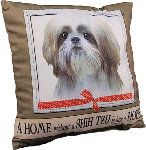 shih tzu pillow shih tzu pillow 16x16 polyester white puppy cut