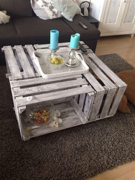 wohnzimmertisch selber machen diy weinkisten tisch kosten ca 25 mit bodenplatte