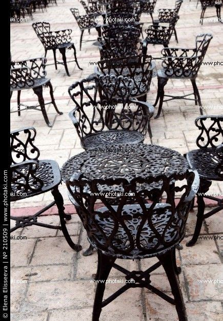 cast iron tables  chairs   added