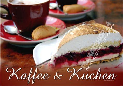 gutschein kaffee und kuchen poster kaffee und kuchen im querformat caf 233 bistro