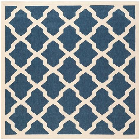 3 square rug safavieh courtyard navy beige 5 ft 3 in x 5 ft 3 in indoor outdoor square area rug cy6903