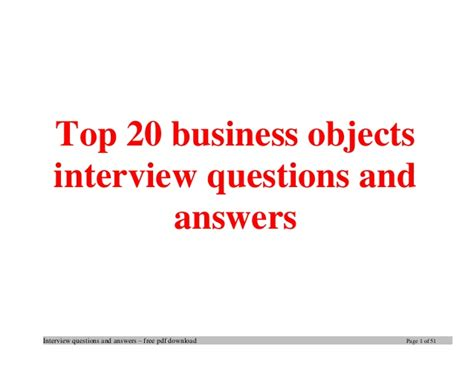 Top Mba Questions by Top Business Objects Questions And Answers