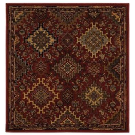 home depot mohawk area rugs mohawk home ankara ruby 8 ft x 8 ft area rug 313784 the home depot
