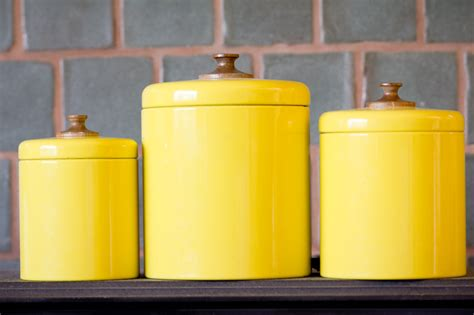 canisters amazing yellow canister sets kitchen terrific