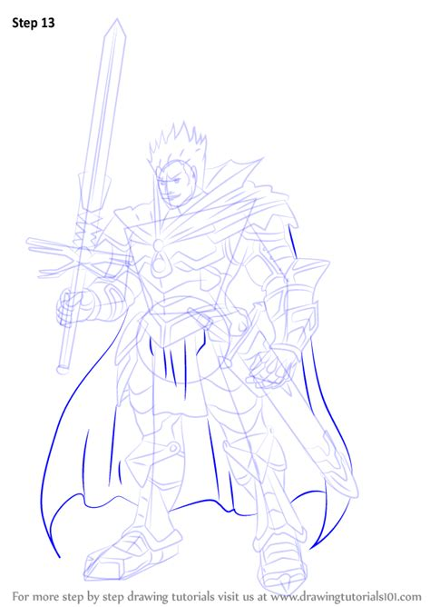 how to draw an anime demon step by step creatures step by step how to draw demon slaying knight lohengrin