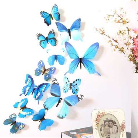 Wall Stiker Sticker Untuk Anak 3d diy wall sticker stickers butterfly home decor room decorations new free shipping nov29 us319