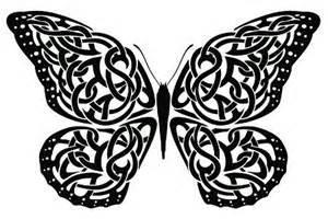 Celtic butterfly tattoo