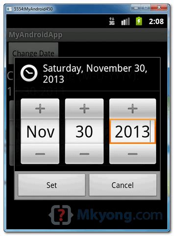 android date picker android date picker exle