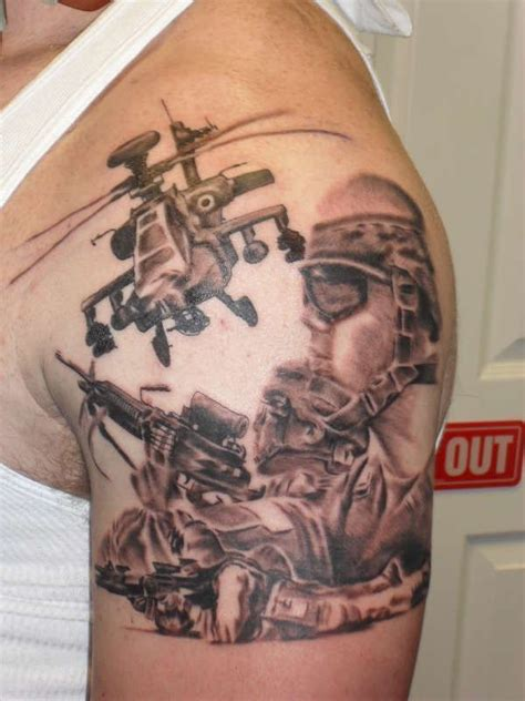 aztec warrior with marine corps emblem on his shield by ink 104 insanely dope marine corps tattoos