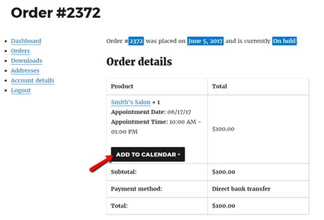Add To My Calendar Export Bookings From Woocommerce To Calendar With